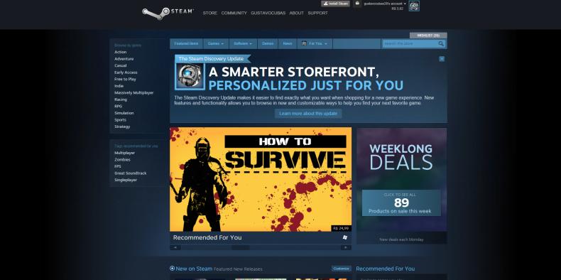 Nova versão do Steam traz boas melhorias