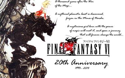 20 anos de Final Fantasy VI - Pacotão comemorativo