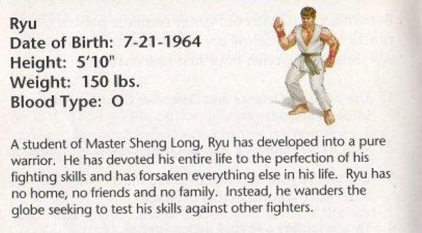 Ryu de Street Fighter completa 50 anos hoje; Veja a idade de outros personagens da série