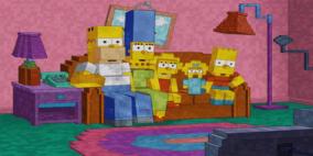 Homenagem (ou trollagem) dos Simpsons à Minecraft